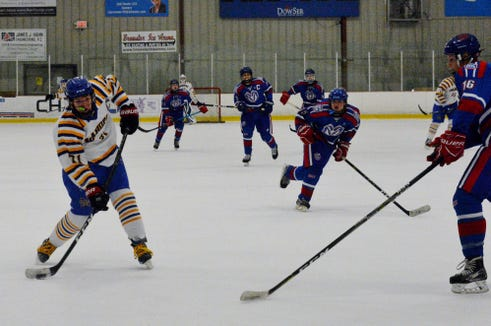 Mahopac forward T.J. McKee finished with five goals and three assists against the Rams.