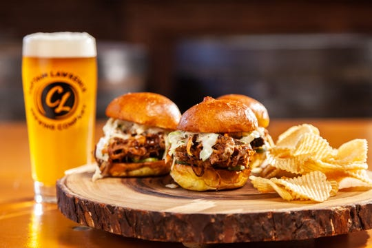 Pork sliders and beer at Captain Lawrence. The Elmsford brewery recently changed its menu.