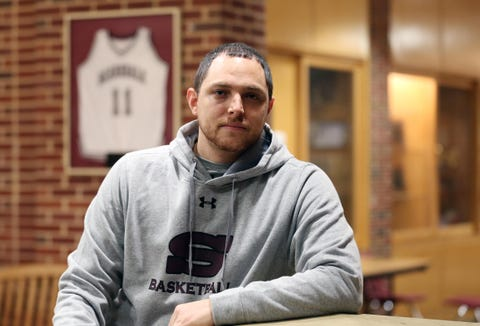 Scarsdale basketball coach Joe Amelio has his team off to a great start at Scarsdale High School Dec. 14, 2018.