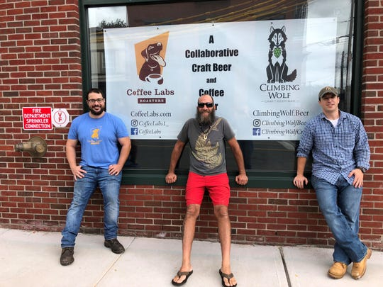 Left to right: JB Gomez, Mike Love, and Chris Gomez of the new Coffee Lab Roasters and Climbing Wolf.
