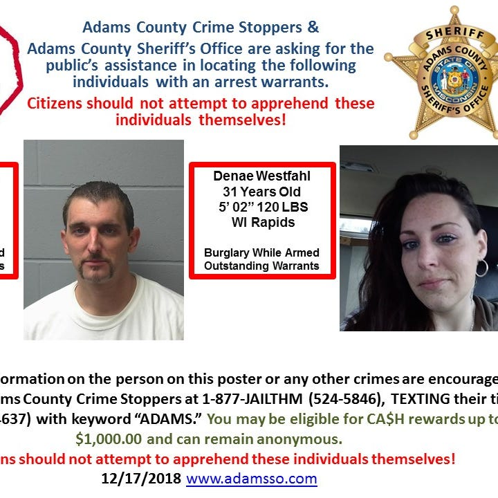 Armed suspect on the loose, Adams County Sheriff's Office advises caution