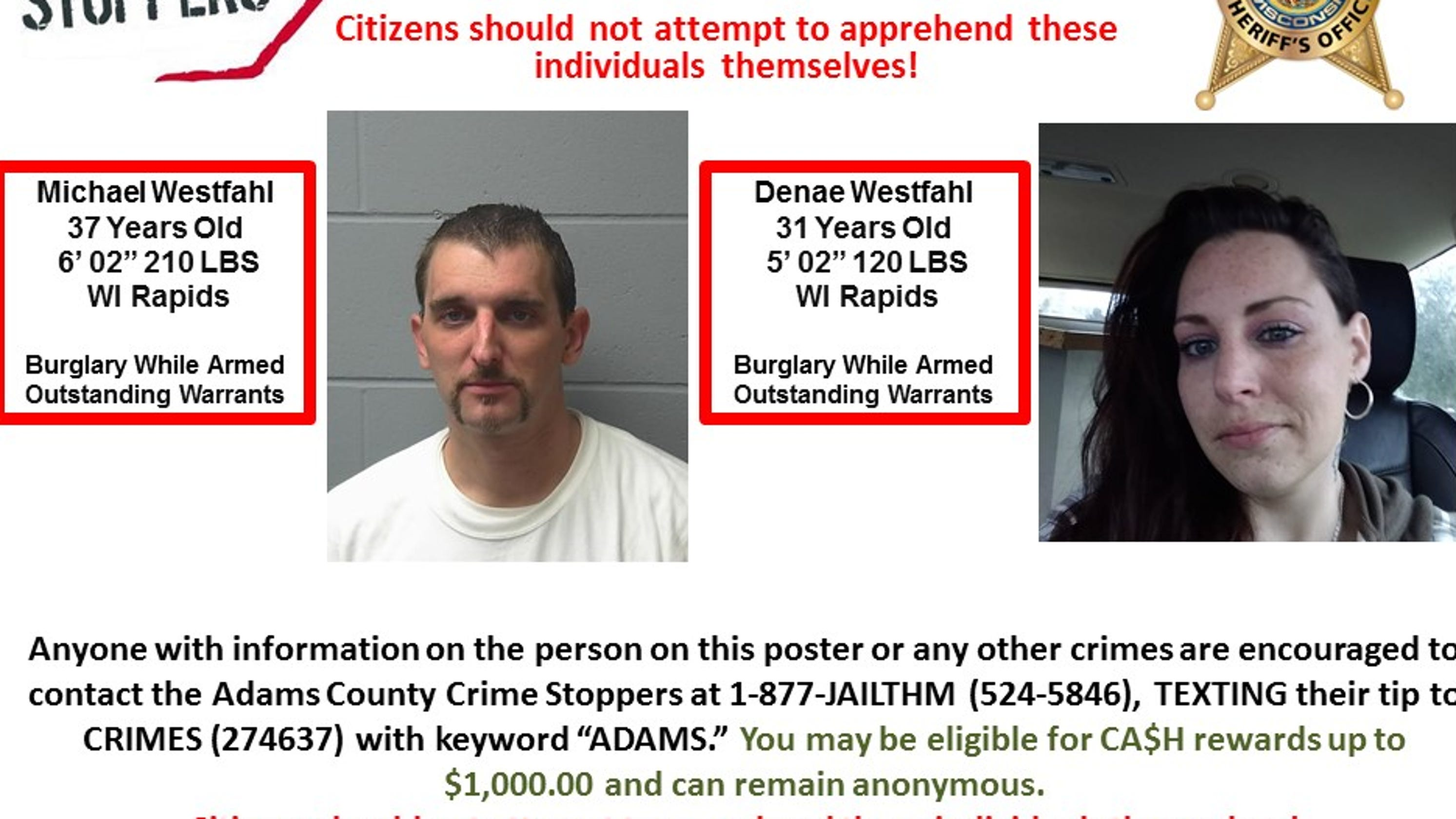 Adams County armed burglary suspects stole multiple firearms from home