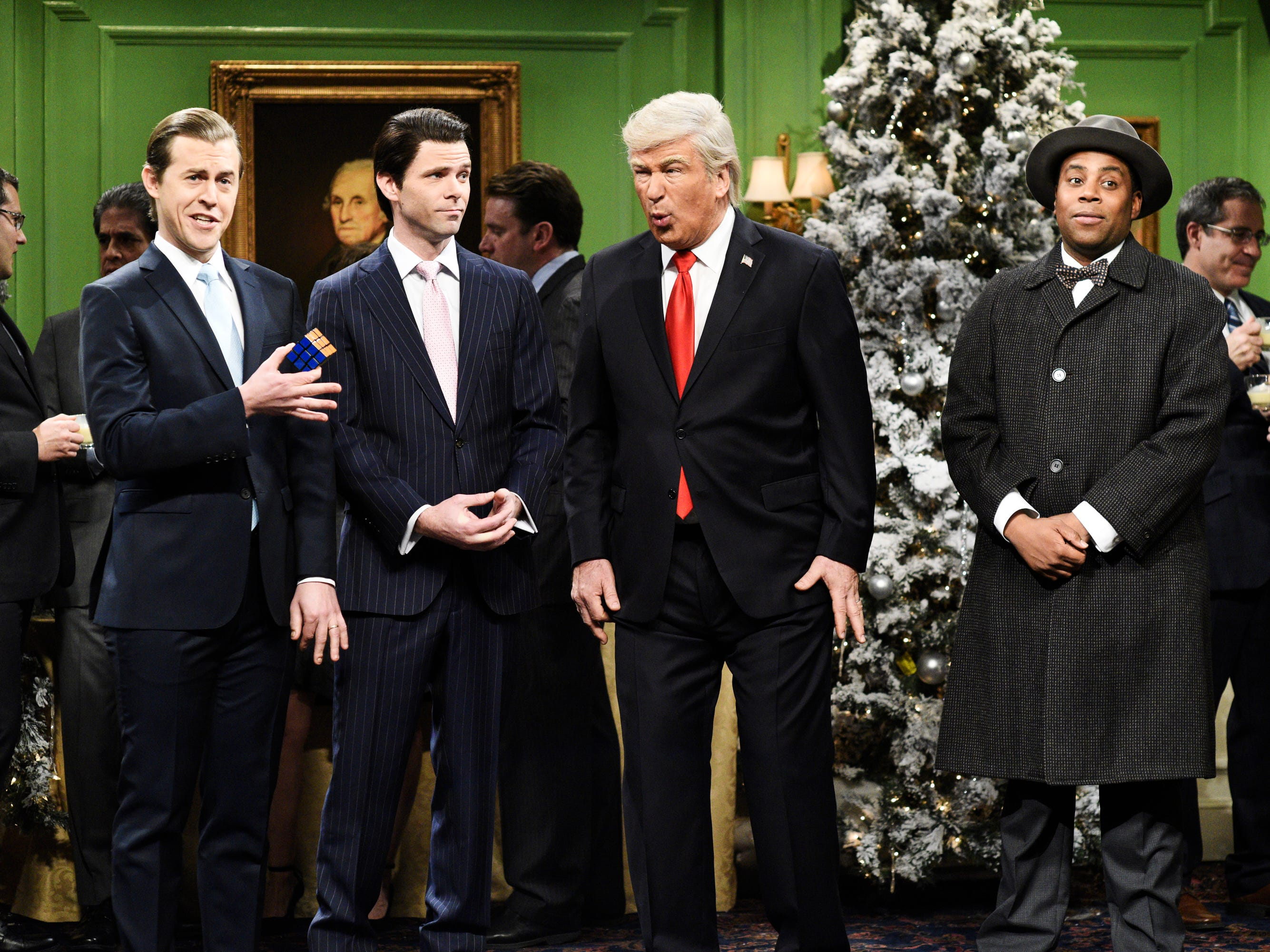 """Saturday Night Live"" kicked off their Christmas episode with Donald Trump in a parody version of the classic ""It's a Wonderful Life."" The sketch drew the ire of the president, who, in a tweet the day after the show, questioned whether parodies like this could be tested in a court."