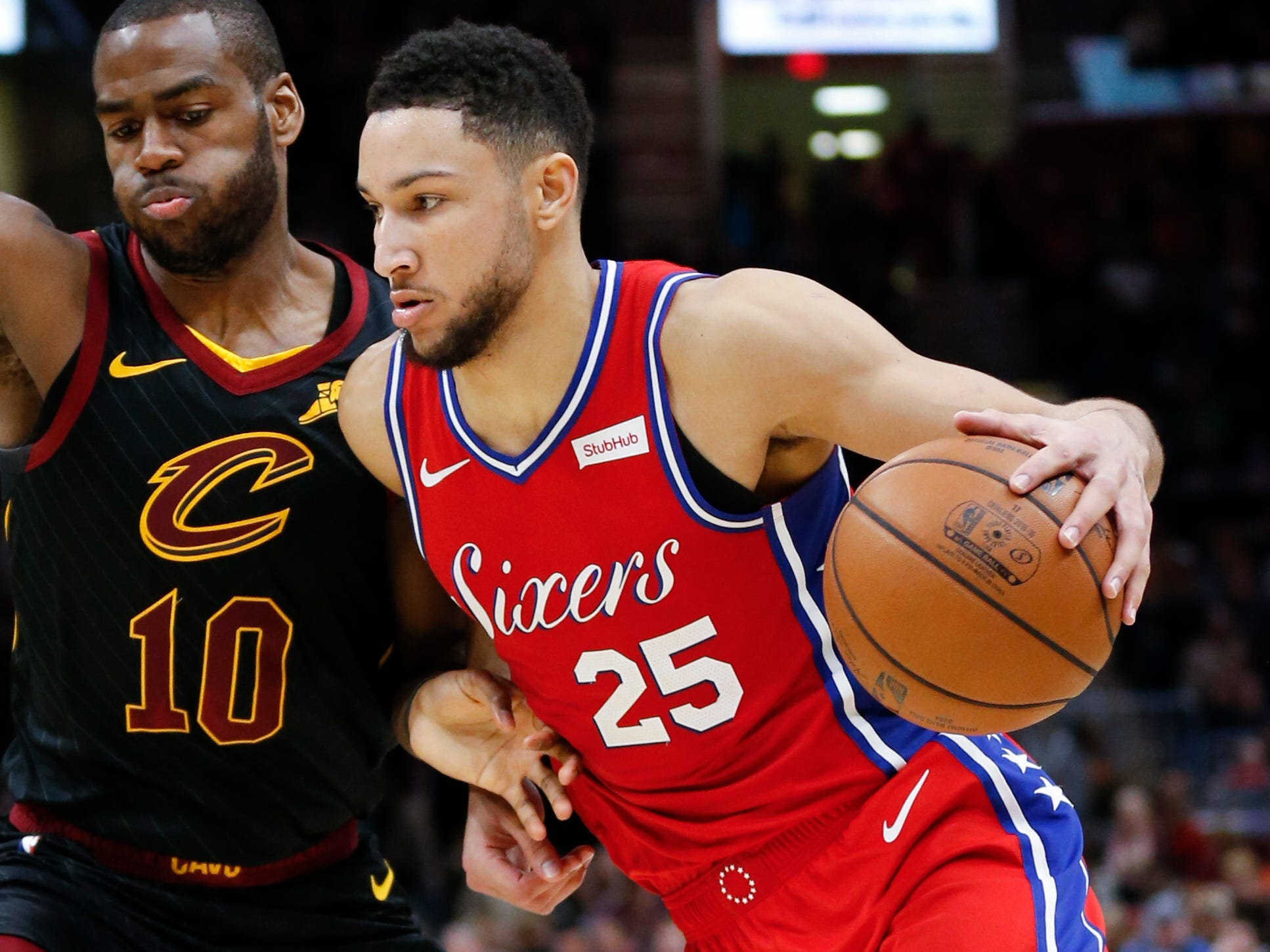 27. Ben Simmons, 76ers (Dec. 16): 22 points, 14 assists, 11 rebounds in 128-105 win over Cavaliers (third of season).