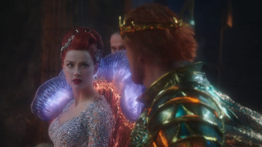 "Mera (Amber Heard) has a sealife-inspired princess gown in ""Aquaman."""