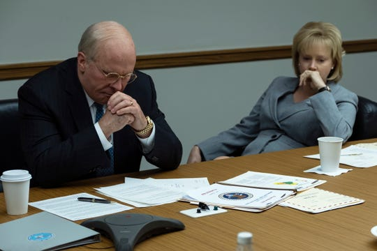 "Amy Adams (right) is Lynne Cheney to Christian Bale's Dick Cheney in ""Vice."" Both actors are nominated for Screen Actors Guild and Golden Globe awards."