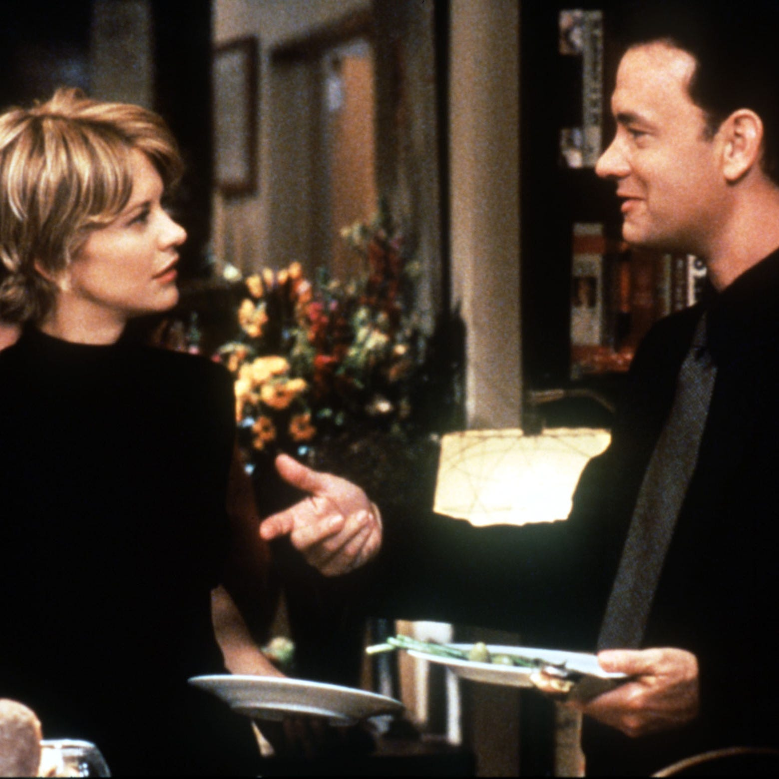 "Tom Hanks and Meg Ryan in a scene from ""You've Got Mail""... and now you have the AOL dial-up sign-on sounds in your head."