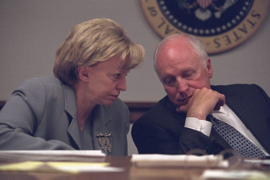 The real Dick and Lynne Cheney responding to the Sept. 11 terrorist attacks in the President's Emergency Operations Center.