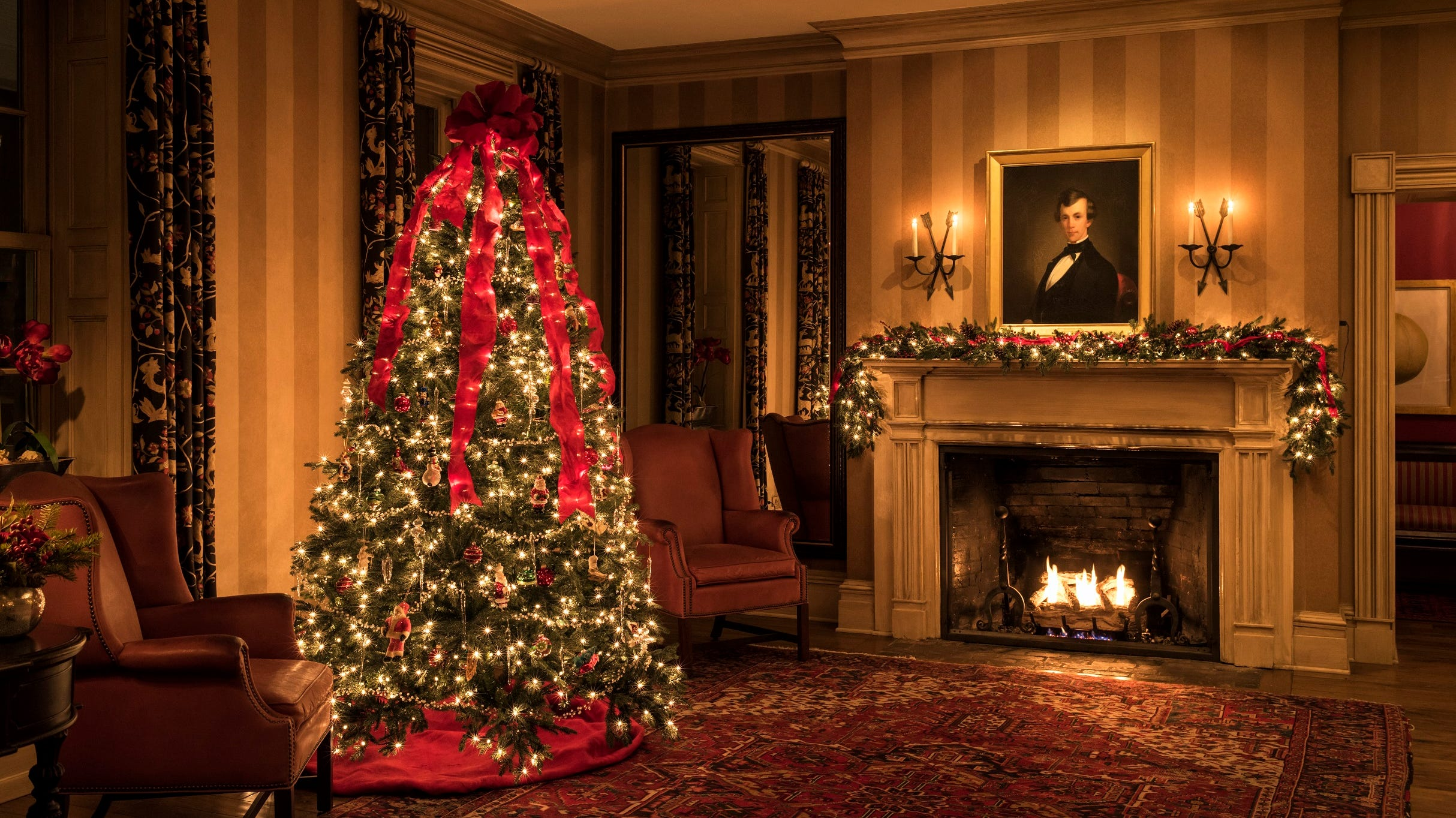 At the Inns of Aurora, a lakeside resort in the Finger Lakes of New York, holiday ornaments adorn the four boutique properties, tailored to enhance each inn's personality.