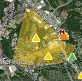 Thousands were without power in Anderson County, hundreds still out of power