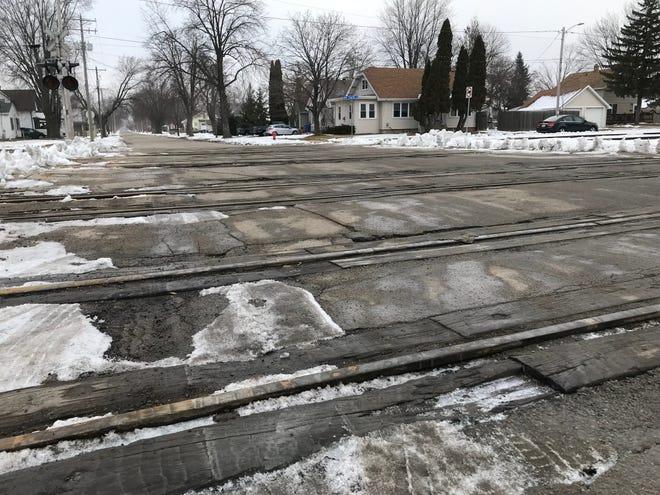 The railroad crossing on Appleton Street in Menasha needs repair.
