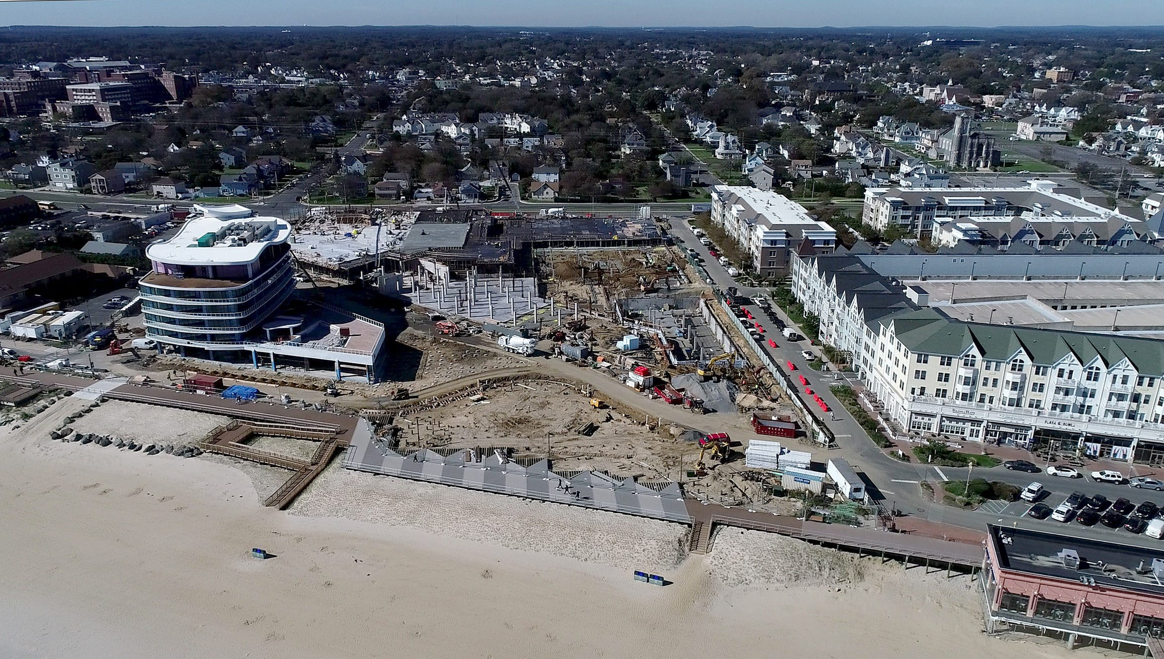 Development continues along the Long Branch coastline, south of Pier Village, shown Friday, October 19, 2018.