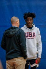 USA Men's Junior National Team participant Bryan Antoine during minicamp at the U.S. Olympic Training Center.