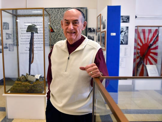 Dale Cartee at the 12th Armored Division Memorial Museum.