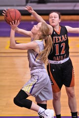 Hardin-Simmons forward Karlea Ritchie (14) has been a key piece for the team this season. Ritchie started the season with back-to-back double-doubles and scored a career-high 22 points last week against Concordia.