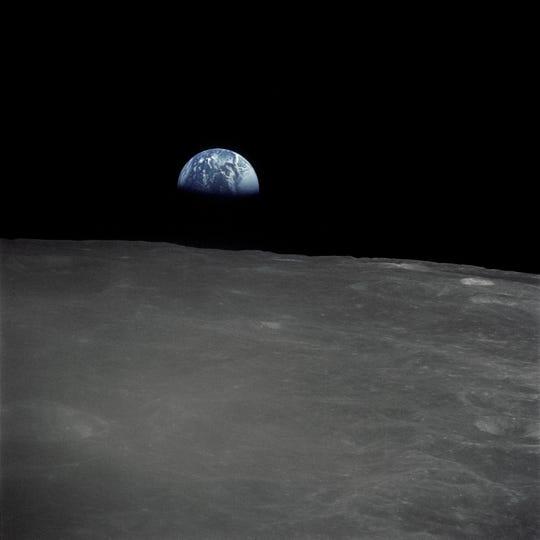 """""""Earthrise,"""" Christmas Eve, 1968."""