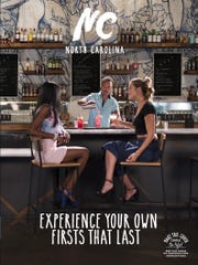 One of three covers to the just-released tourism guide to North Carolina features a Raleigh restaurant.