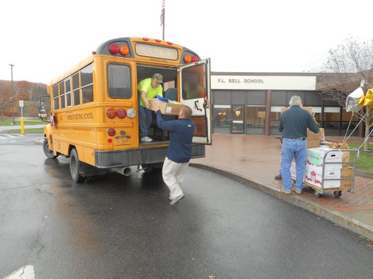 The Windsor Central School District collected over 2,500 pounds of food for Windsor Human Development during the district's Fill the Bus food drive.