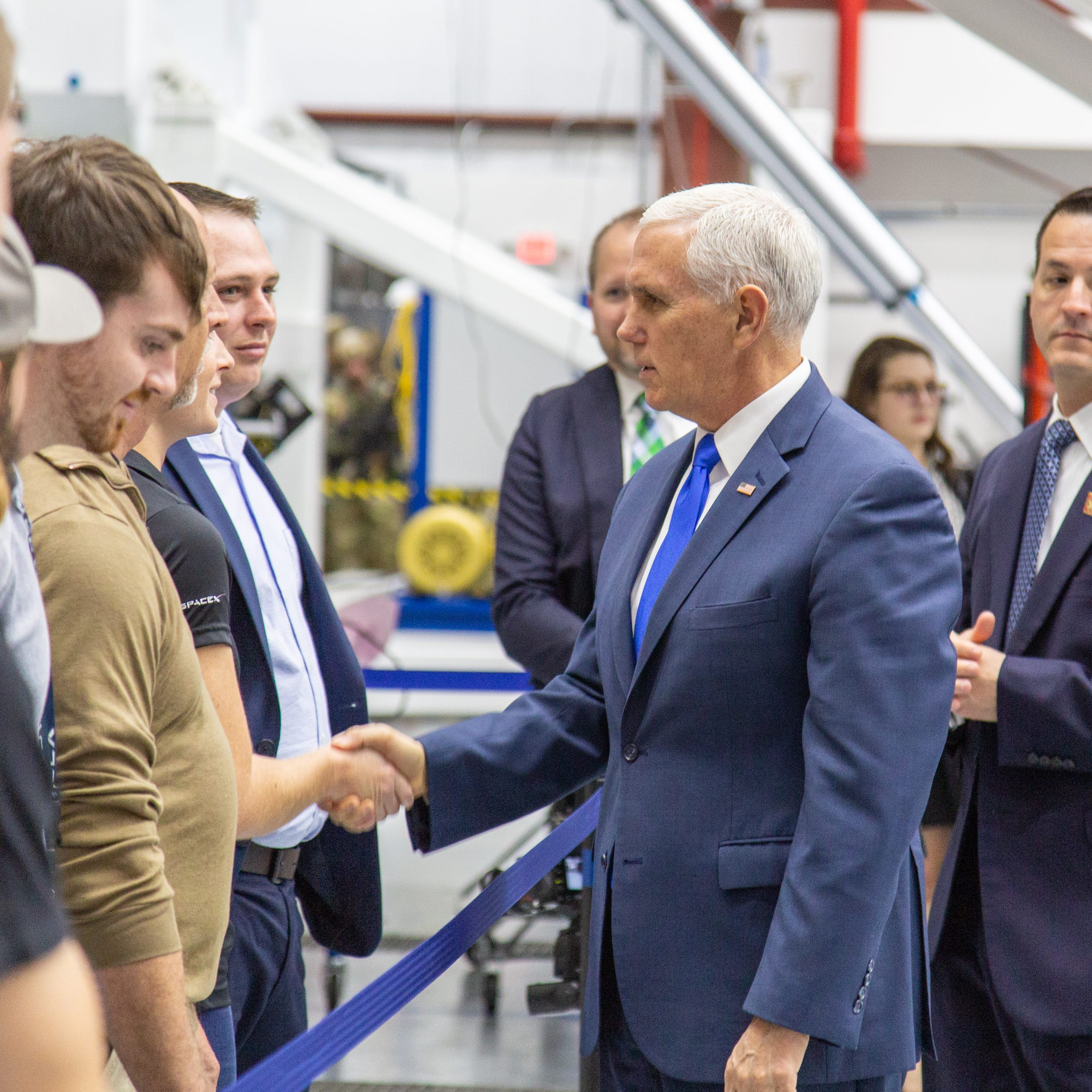 Vice President Pence visited SpaceX's pad 39A in Florida. Here's what he saw.