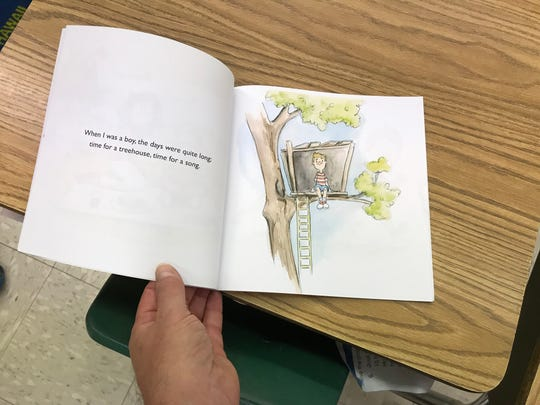 Jim Taylor, a first-grade teacher at Suntree Elementary School, has authored a children's book based on a poem he wrote for his mother.
