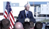 Vice President Mike Pence speaks at Kennedy Space Center on Tuesday, Dec. 18, 2018.
