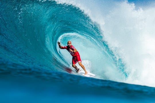 Cocoa Beach's Kelly Slater, winner of 11 world championships, entered his first competitive event as an 8-year-old in the Salick Brothers Surf Contest in 1980.