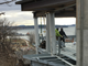 """Workers install steel decking on what will be the parking garage for the """"One Lakeview"""" building overlooking Lake Champlain in Burlington. Photographed Dec. 18, 2018."""