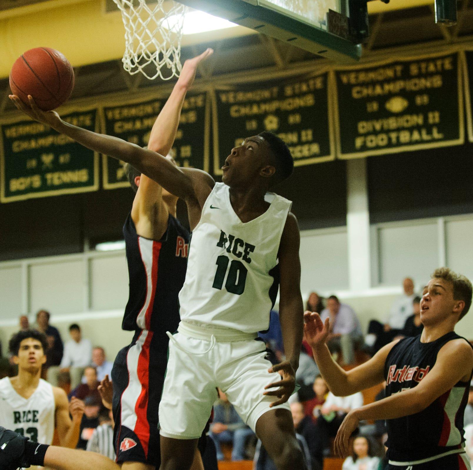 Vermont boys basketball: Rice snaps Rutland's 43-game winning streak