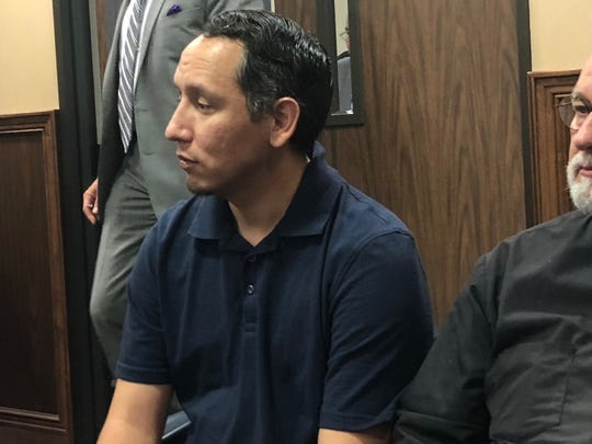 Eric Tunchez appears in court on Dec. 18, 2018. He's charged with aggravated promotion of prostitution.
