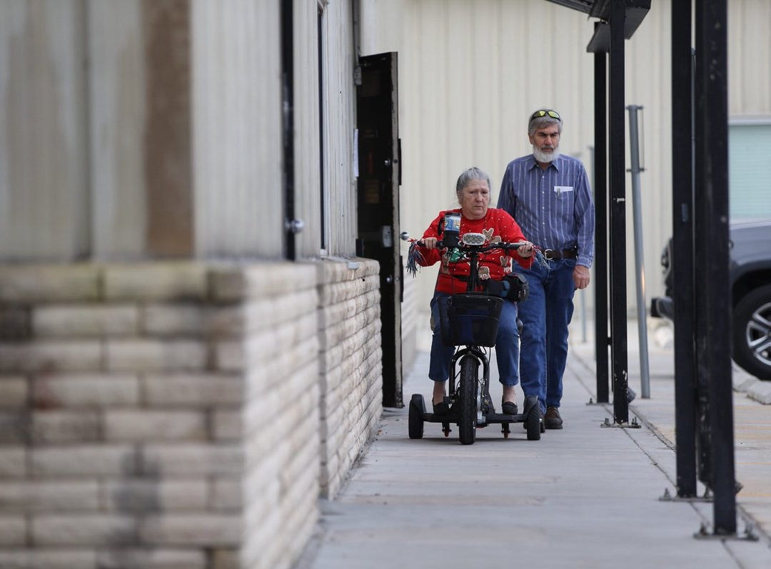 """Phyllis and James Eckerson vote at the Deaf & Hard of Hearing Center on Tuesday, Dec. 18, 2018, in the Corpus Christi City Council runoff elections. Phyllis said, """"It's a civic duty and everyone should do it. If you don't vote, you can't complain, you have no voice."""""""