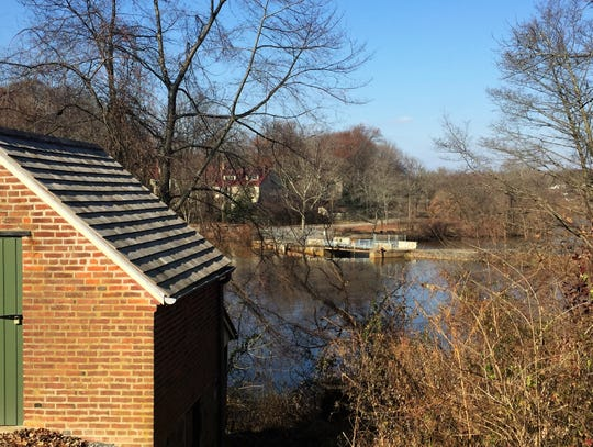 A spring house overlooks the Cooper River at Croft Farm on the border between Cherry Hill and Haddonfield.