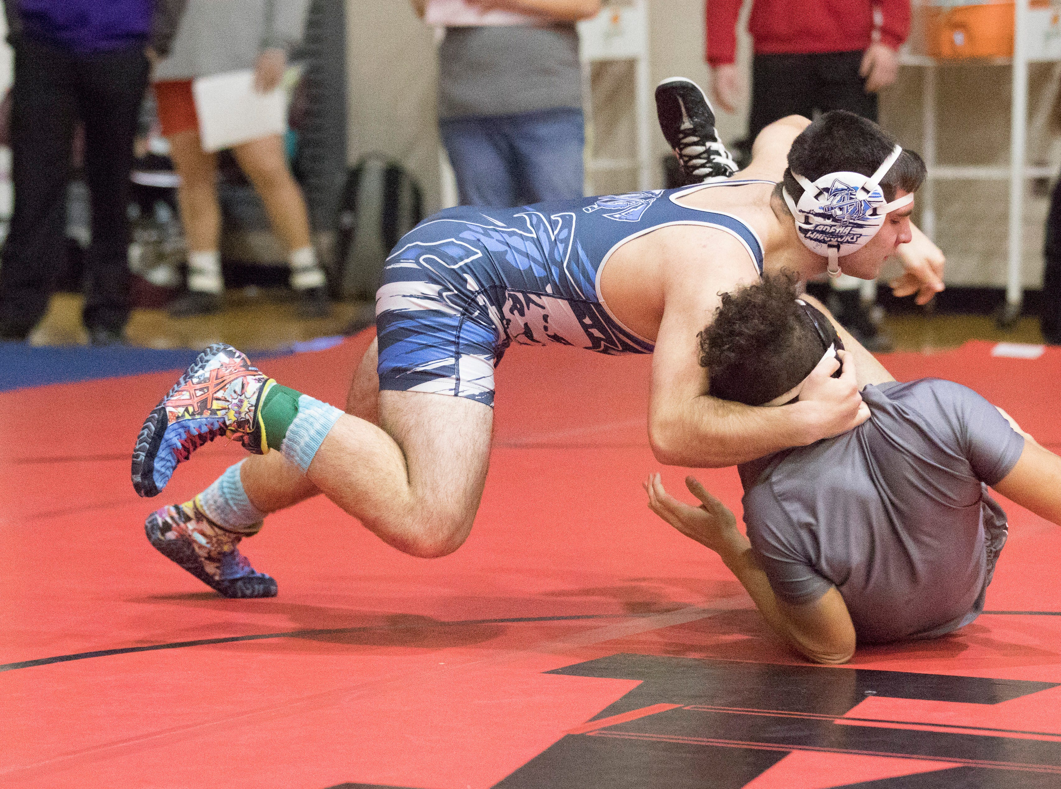 Adena, Unioto, Southeastern, Zane Trace, Waverly, and Westfall wrestling teams compete in the 2018 Spring Street Sports Invitational at Vinton High School on Saturday, December 15, 2018. Westfall wrestling finished third, Zane Trace finished fifth, Adena finished eighth, Southeastern finished 12th, Unioto finished 16th, and Waverly finished 21st out of 22 teams.