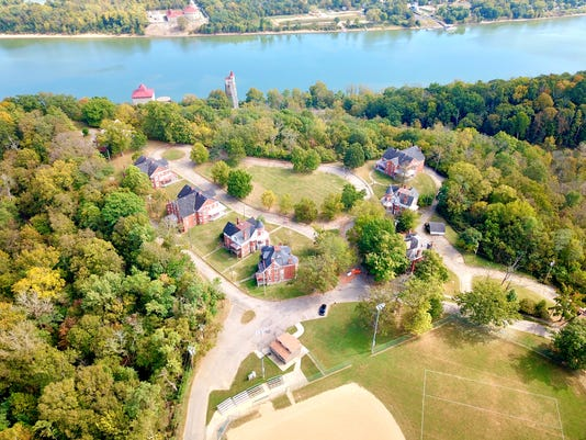 Fort Thomas Army homes from above