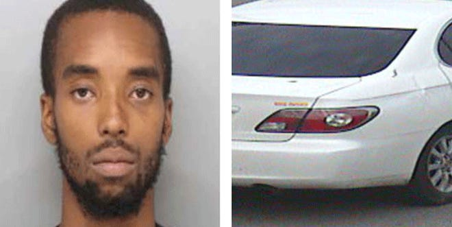 Terrance Smith's white, 2004 Lexus was stolen immediately after he was shot in Walnut Hills late Monday, Cincinnati police said.