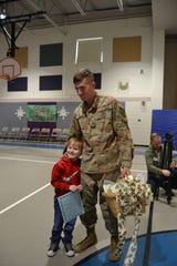 On Monday, Timothy Zeller, a private in the U.S. Army, who has been stationed in southern California since early July,  was reunited with his son, Abel Towers-Zeller, 6, during a surprise visit to  Raymond E. Voorhees Elementary School in Old Bridge on Monday.