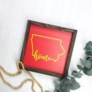 "Iowa State ""home"" print"