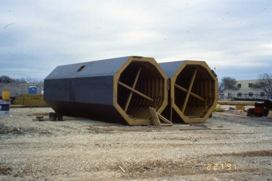 Mast forms built by EFCO of Des Moines