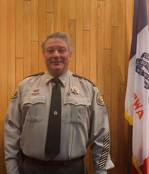 Kevin Schneider shown Dec. 18, 2018, the day he was sworn in as Polk County's new sheriff.