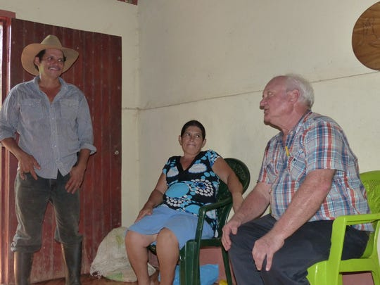 Former Register farm editor Jerry Perkins visits with Nicaraguans he met in the early 1970s.