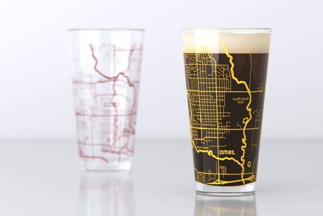Ames-map pint mug
