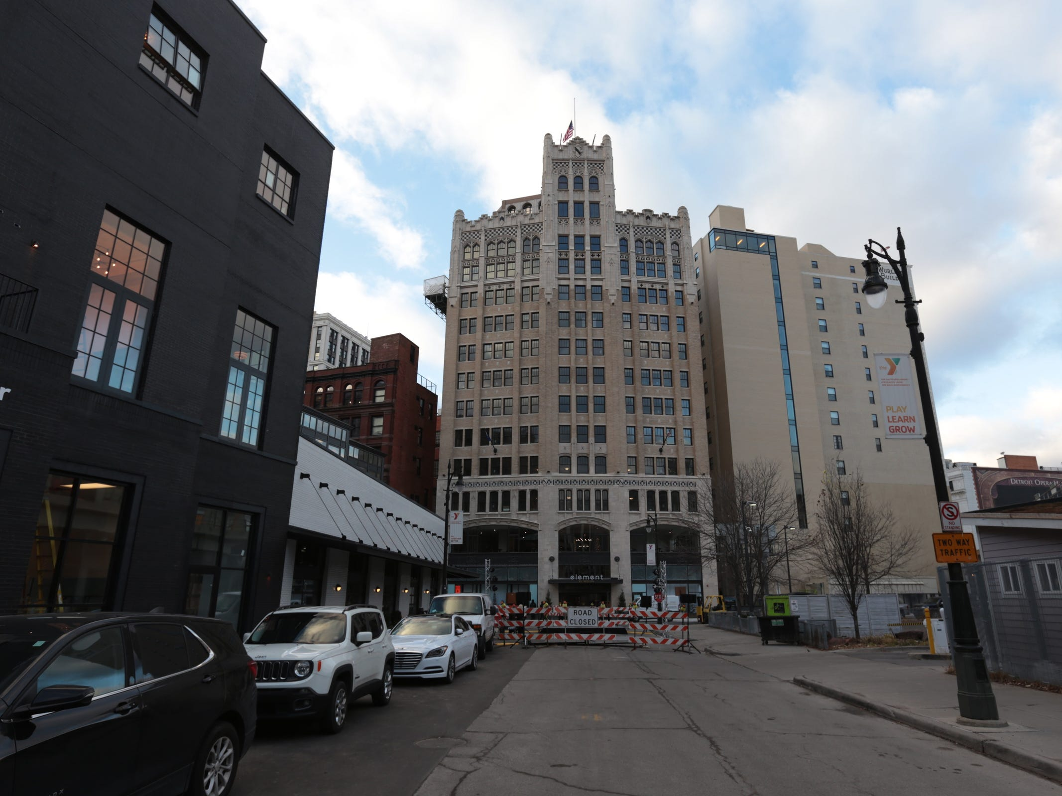 The newly renovated Metropolitan Building in downtown Detroit is seen on Monday, December 17, 2018.