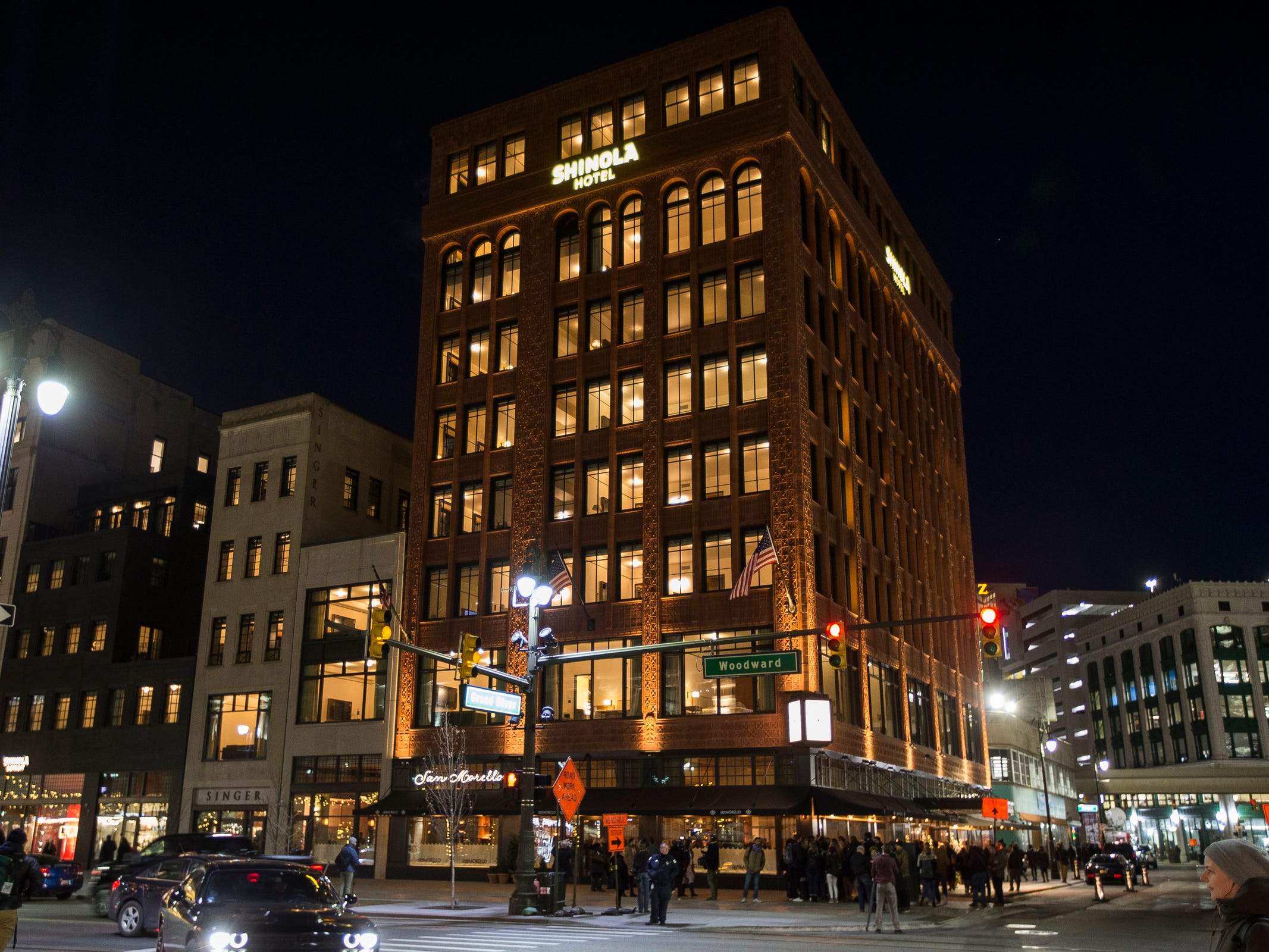 Shinola Hotel in downtown Detroit, Tuesday, Dec. 18, 2018.