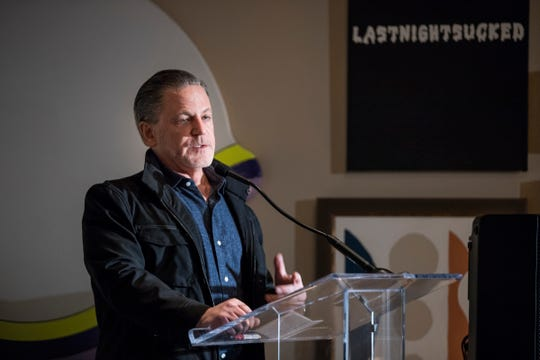 Dan Gilbert, chairman of Bedrock speaks during the opening of Shinola Hotel in downtown Detroit, Tuesday, Dec. 18, 2018.