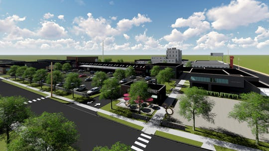 Renderings provided by Krieger Klatt Architects show what the Iron Ridge Marketplace at the Ferndale-Pleasant Ridge border, near I-696 and Bermuda Street, could look like in the future.