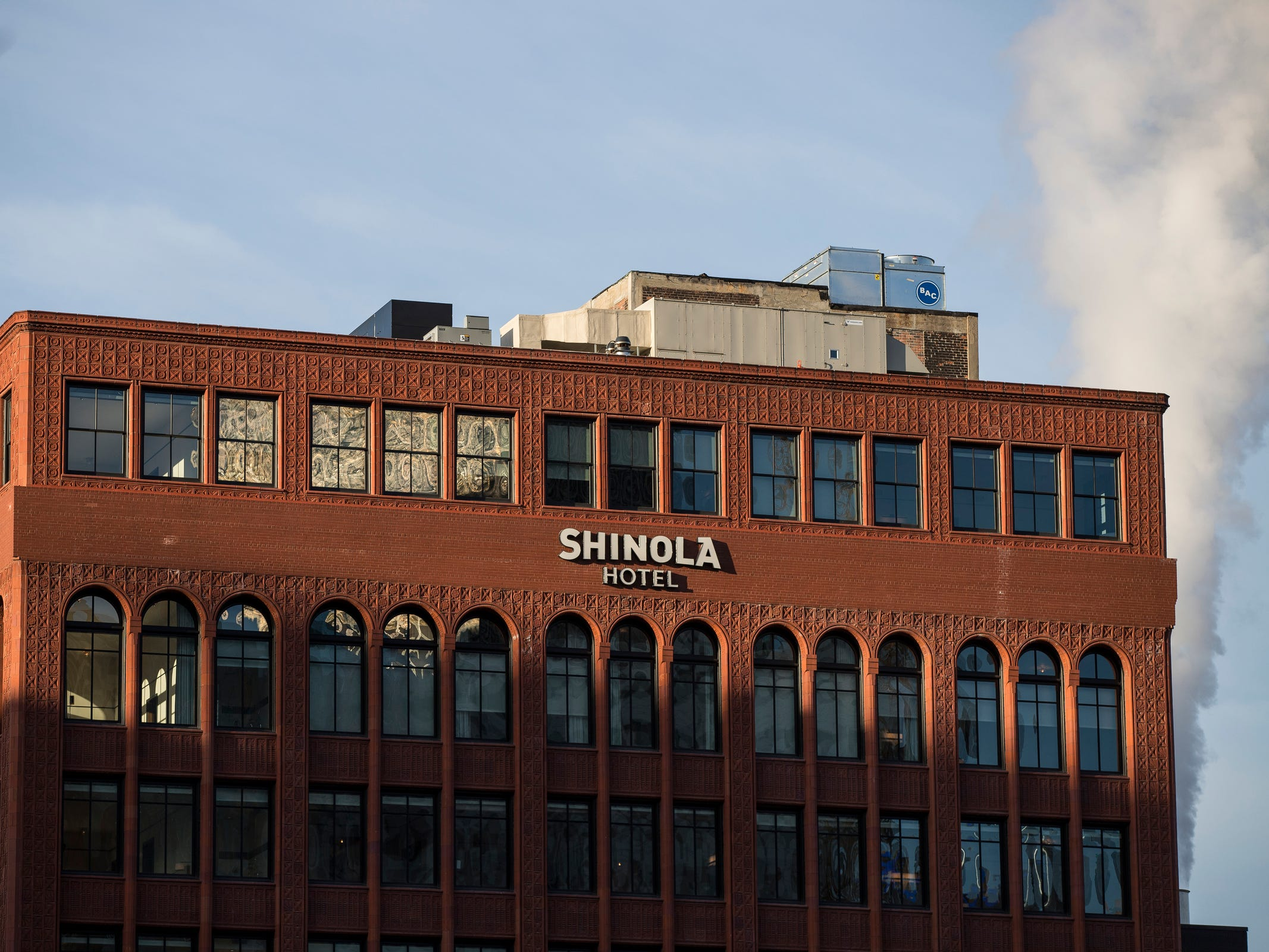 Shinola Hotel in downtown Detroit, Dec. 18, 2018.