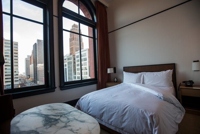 A Study Queen style guest room in the Shinola Hotel in downtown Detroit, Dec. 18, 2018.