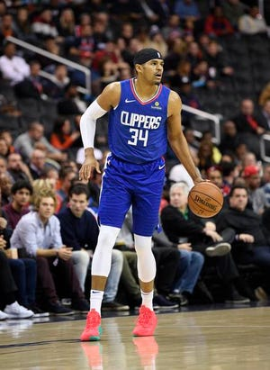Former Piston forward Tobias Harris (34) has started up mentoring programs in Orlando, Detroit and now Los Angeles.