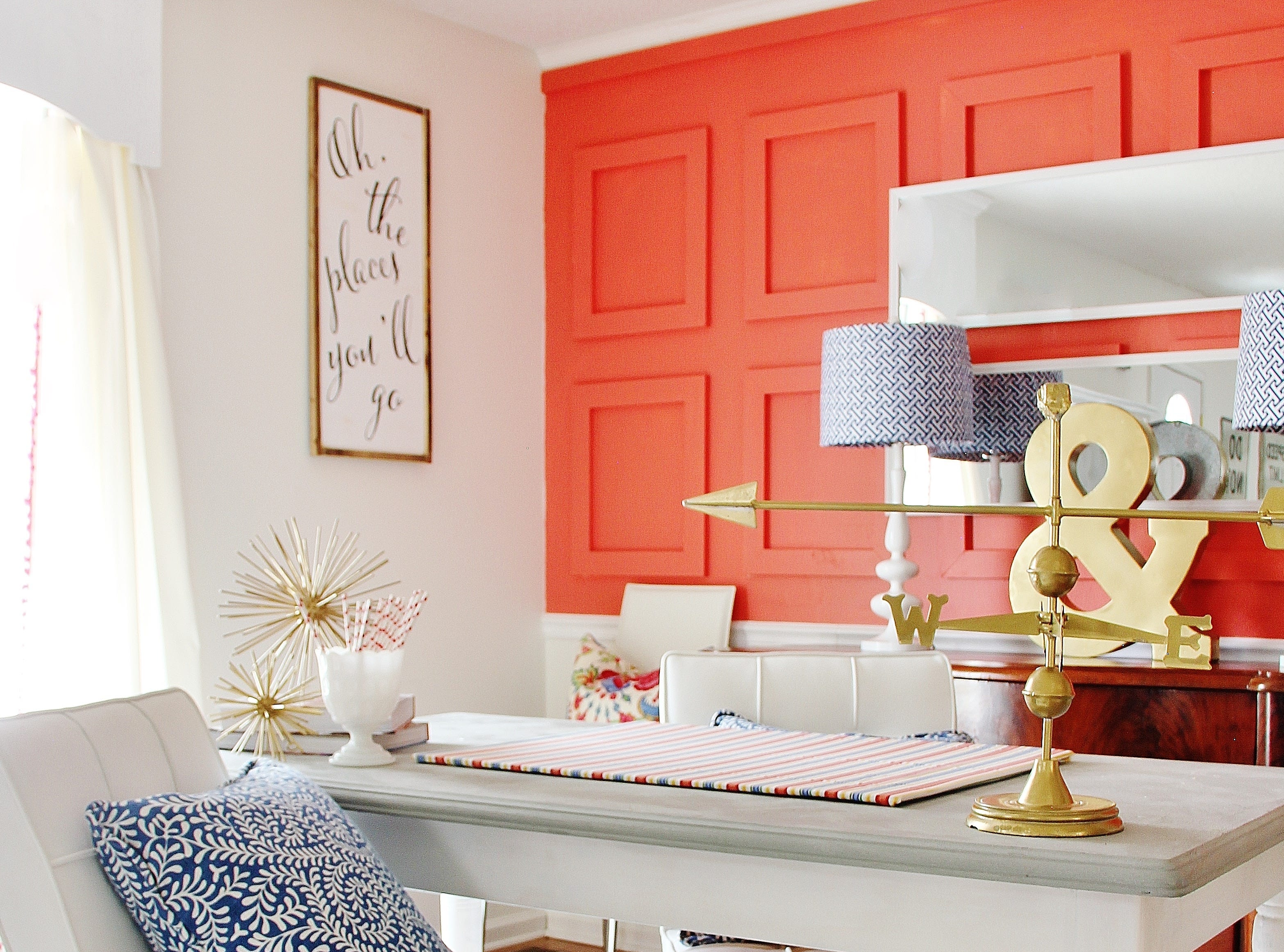 IN: Pantone's Color of the Year for 2019, Living Coral. Picutred is a similar color from Sherwin-Williams, Coral Reef.