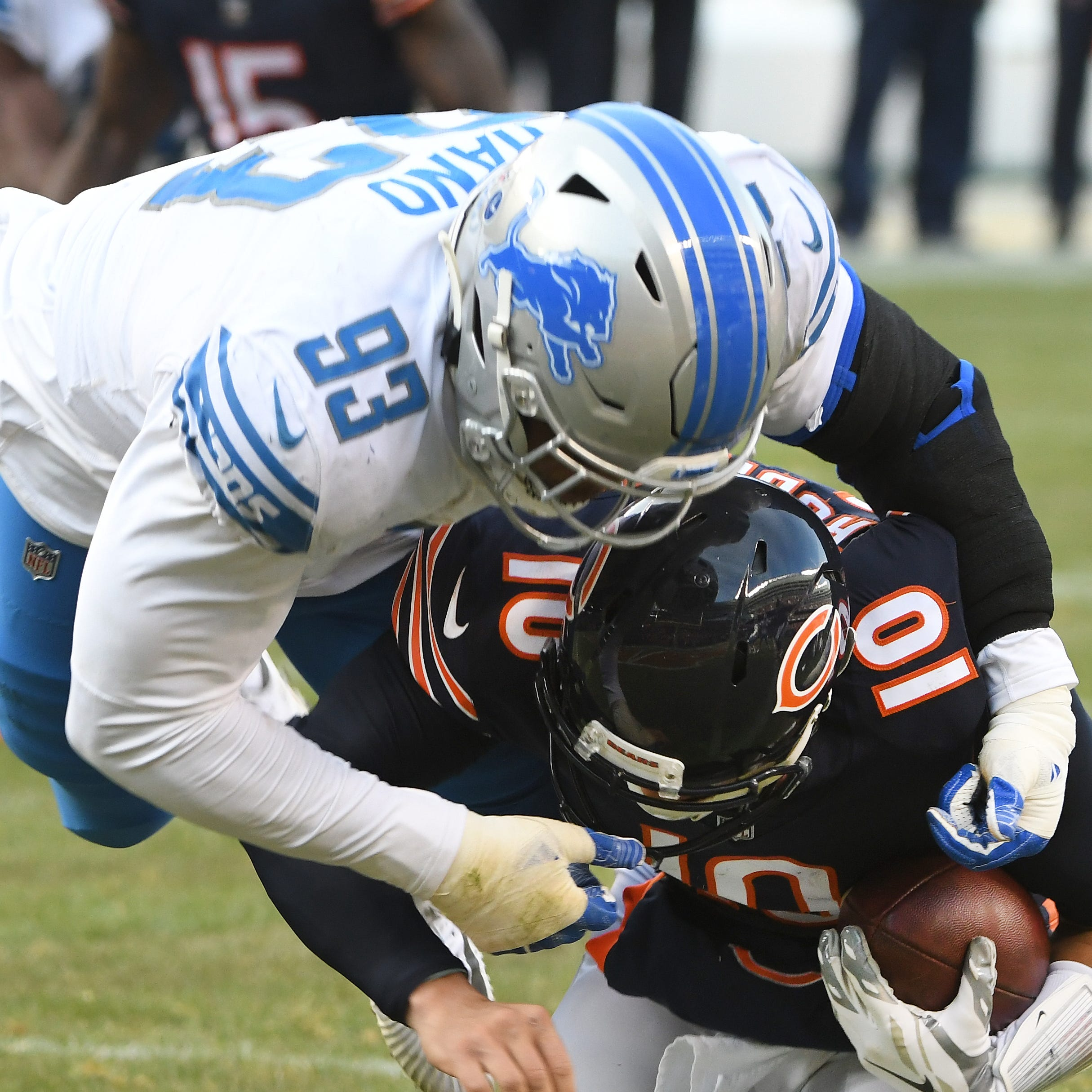 The Lions placed rookie defensive lineman...
