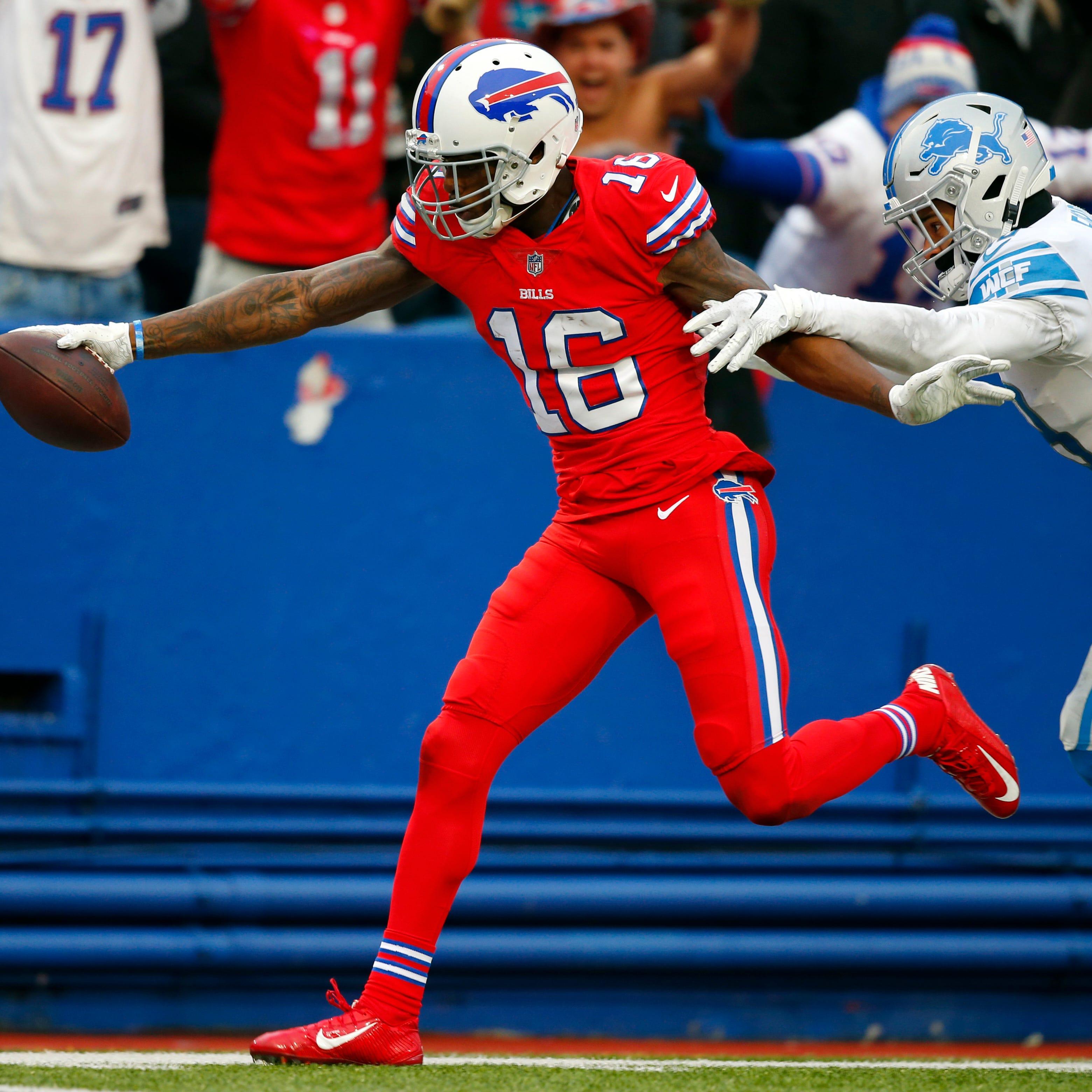 Bills rookie wide receiver Robert Foster (16)...